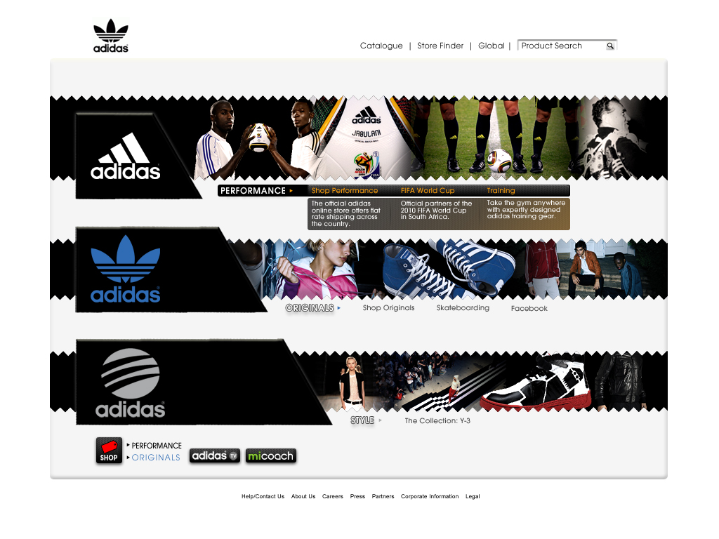 addidas website
