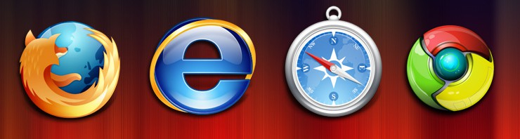 Comparison on all Major Web Browsers: Internet Explorer, Safari, Firefox, and Google Chrome