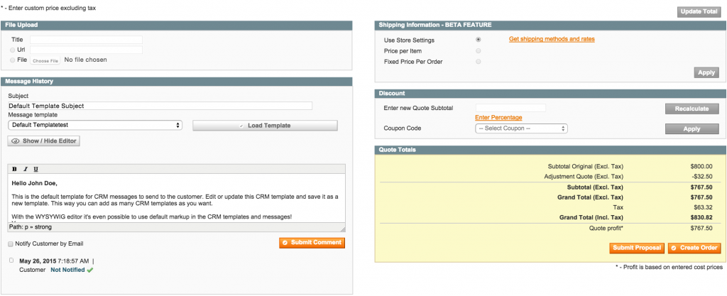 Get A Quote system with Magento - Quote Detail Page 2